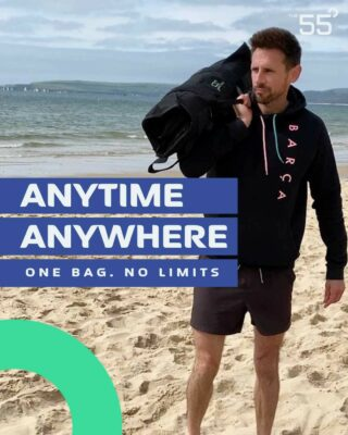 """[ANYTIME. ANYWHERE]  The55 is the only 4in1 sandbag that is also your fitness companion.   @stevecolemanfitness uses his 55 to stay fit on holiday!  """"I went to the beach with my family for a much needed change of scene. Being away reminded me how hard it has always been to find the time to workout when I'm not home especially juggling time with my 2 crazy boys….  WELL NOT ANYMORE!! I packed my new @the55fitness took it to the beach and I smashed it!   👊🏼💪🏼💥Or more the point it smashed me! 🤪While the boys were having an amazing time burying each other in sand and collecting shells...  I was right next to them, having a great workout 🏖 Ranging in weight from 5-25kg this all in one bag was perfect.   With 4 pull out pouches each filled with sand it is an absolute beast. Unlimited exercises, convenient and  …  Trips away now are sorted!""""  📸  @stevecolemanfitness   LINK IN BIO . . . #fitnessequipment #sandbagfitness #sandbagworkout #sandbagtraining #sandbagtraining #sandbagworkouts #sandbag #buildyourhomegym #homegym #outdoorgymlife"""